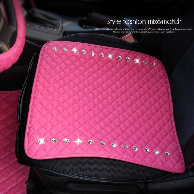 Crystal Diamond Leather Car Seat Covers