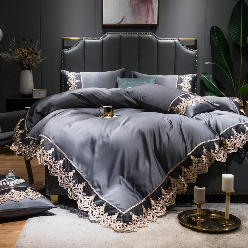 Embroidered Silk Bedding Set