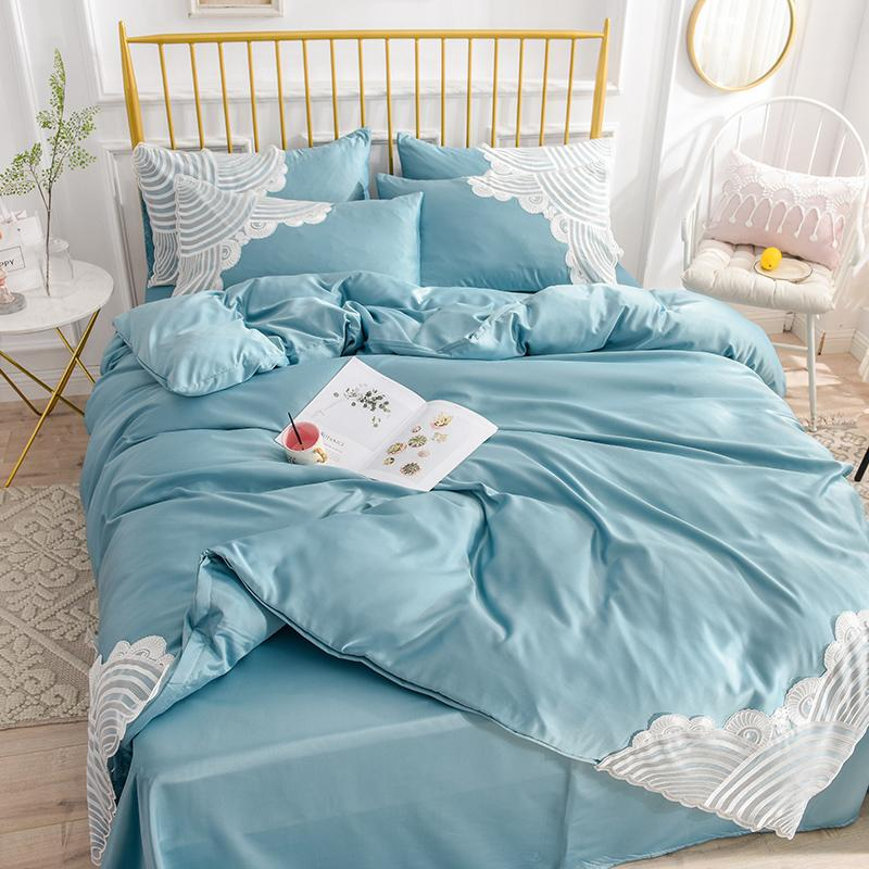 Classic Silk Lace Bedding Set