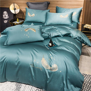 Feather Cotton Bedding Set