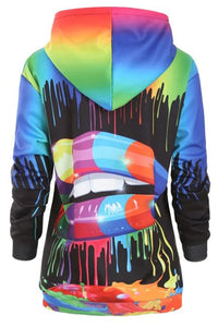 Fashion Casual Print Multicolor Hoodie