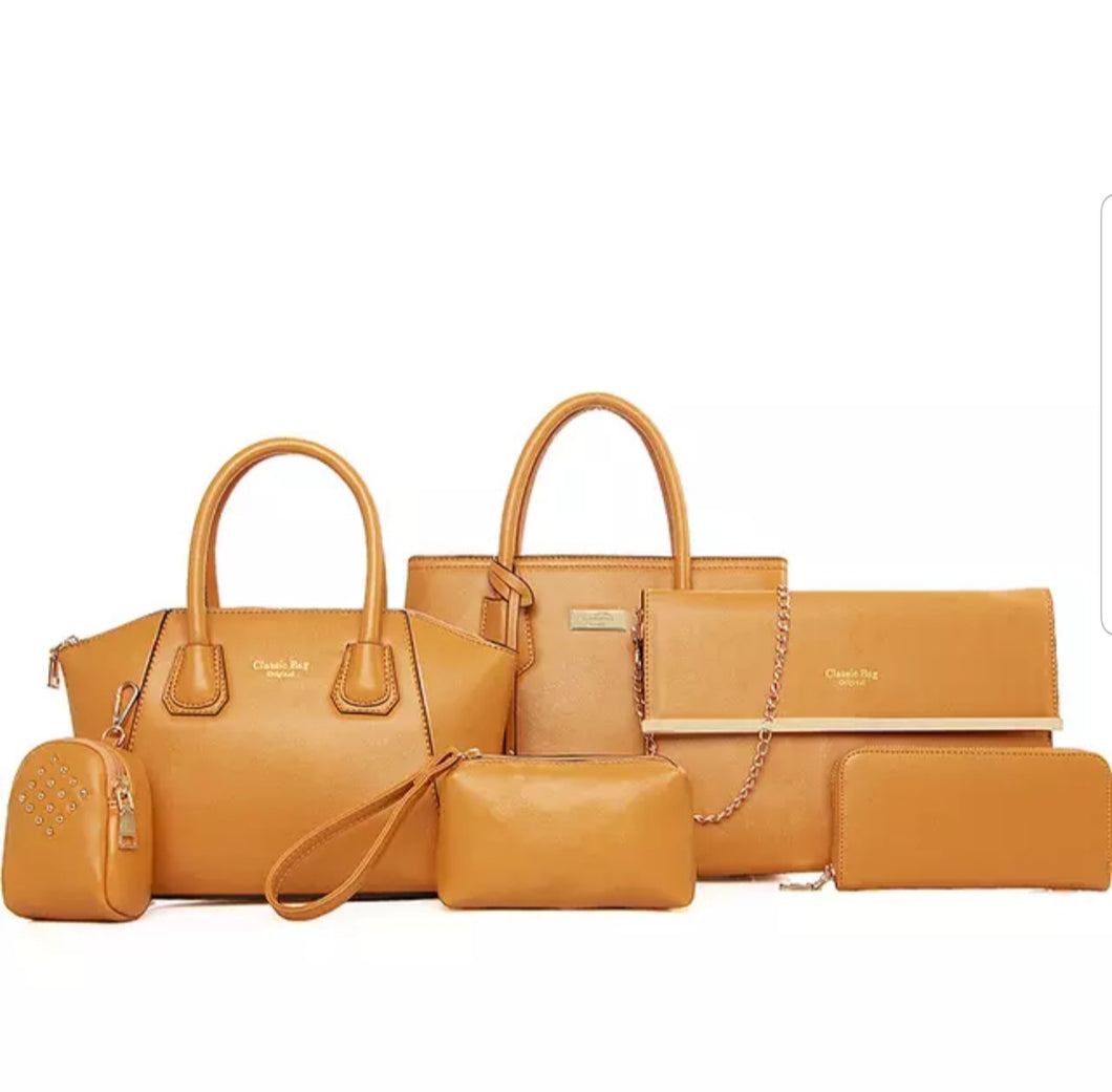 Fashion Mustard 6pc Travel Set