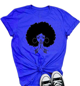 Shows Afro Printed Causal Tee