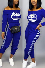 Load image into Gallery viewer, Fashion Casual Solid Color Embroidery Two-Piece Set