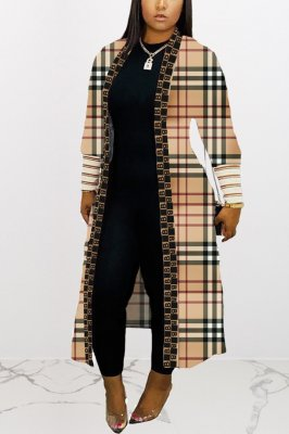 Fashion Casual Printed Long Coat