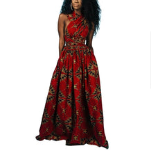 Load image into Gallery viewer, Fashion Cross Back Red Printed Dress