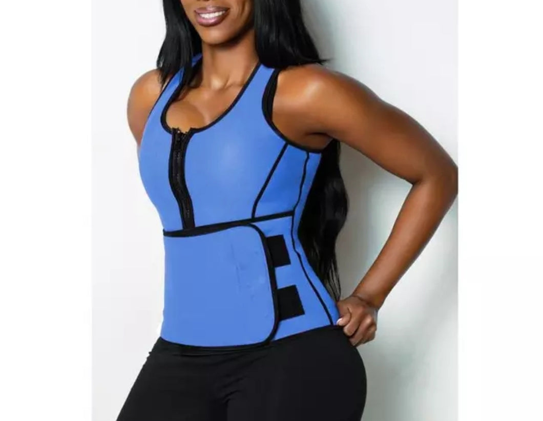Shows Blue Get Snatched Waist Trainer with Vest