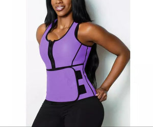 Shows Purple Get Snatched Waist Trainer with Vest