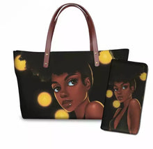 Load image into Gallery viewer, Fashion Culture Printed Yellow 2pc Tote and Wallet Set