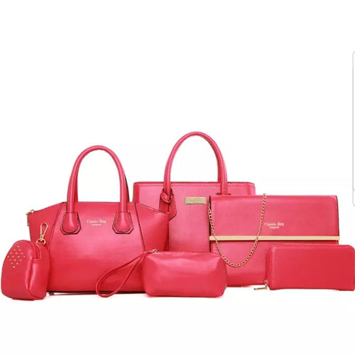 Fashion Pink 6pc Travel Bag Set