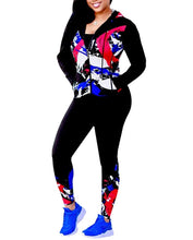 Load image into Gallery viewer, Shows Fashion Womens 2 piece multicolor Zip Tracksuit