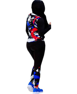 Shows Fashion Womens 2 piece multicolor Zip Tracksuit