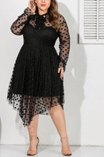 Load image into Gallery viewer, Sexy Mesh Openwork Perspective Black Dress