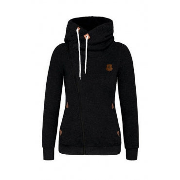 Fashion Hooded Collar Zipper Design Hoodie