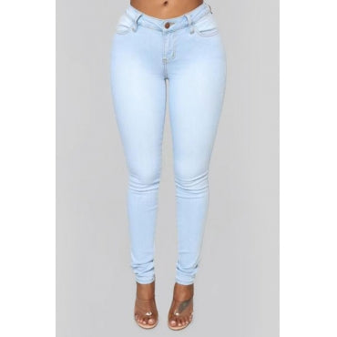 Fashion Skinny Baby Blue Jeans
