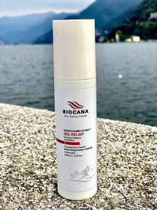 Swiss Sport Gel Relief by Biocana -  | Gel Sport Sollievo Immediato | Organic Swiss Hemp Extract 1000MG, Aloe Vera, Glucosamina | 100ml | Rigenerare | Benessere | Naturale | Muscolari | Made in Switzerland
