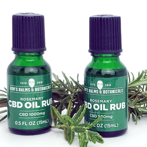 Ron's CBD oil rubs are highly concentrated and made with organic oils that aid in rapid absorption for quick relief.