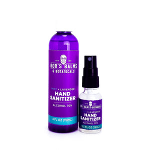 Open image in slideshow, Ron's Mint Lavender Hand Sanitizer