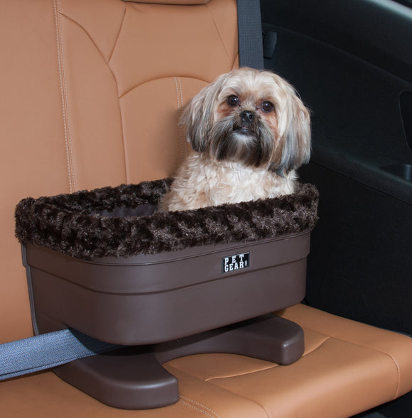 Rosewood Plush Bucket Dog Car Seat Booster