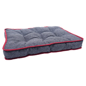 Dog Bed | Two Tone Padded Mattress Grey Medium