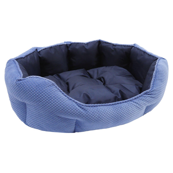 Dog Bed | Quilted Navy Water-Resistant Bed