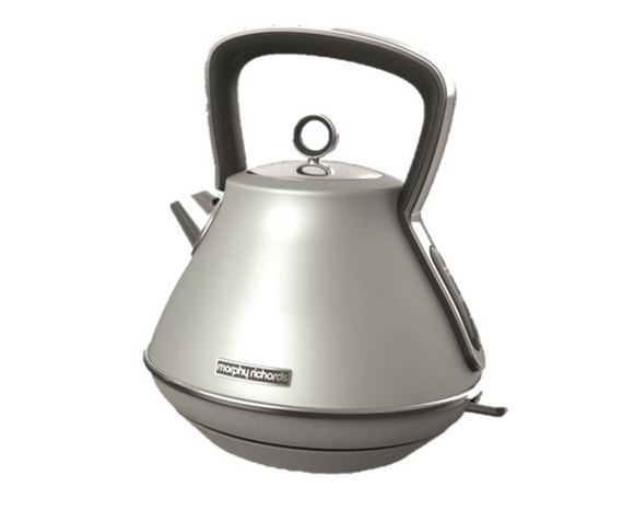 Morphy Richards Kettle 360 Degree Cordless Stainless Steel Platinum 1.5L 2200W