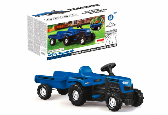 Kids Ride-On | Dolu - Ranchero Tractor Pedal Operated With Trailer