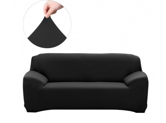2 Seater Couch Cover Black