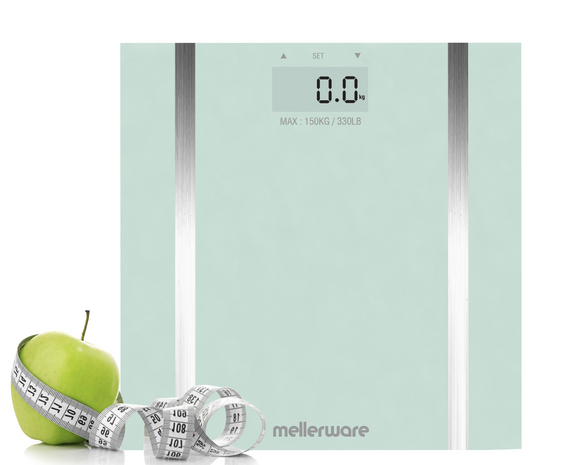 Mellerware Bathroom Scale Auto-Off Glass 150 kg 3V