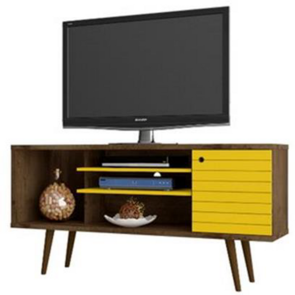 SAFARI 1.3 m TV Unit - Rustic / Yellow