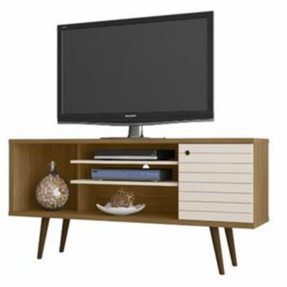 SAFARI 1.3 m TV Unit - Cinnamon / Off White