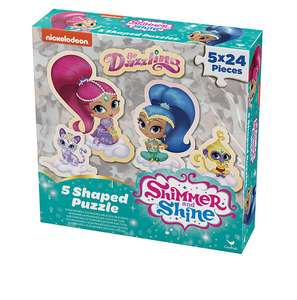Kids Puzzle | Shimmer & Shine 5 Shaped Puzzles in Box