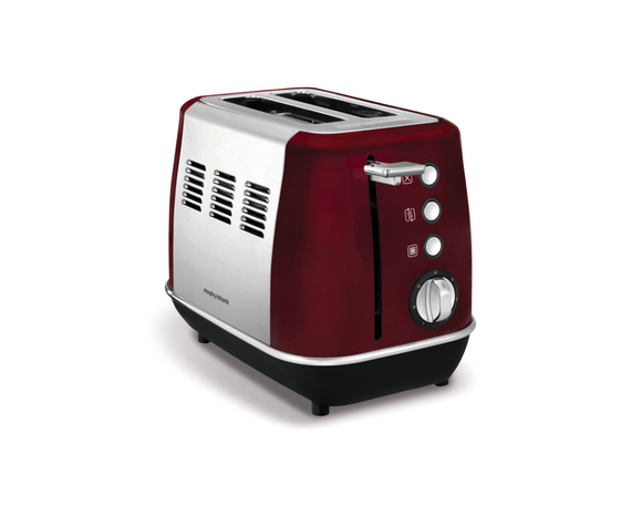 Morphy Richards Toaster 2 Slice Stainless Steel Red 900W