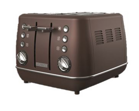 Morphy Richards Toaster 4 Slice Stainless Steel Bronze 1800W