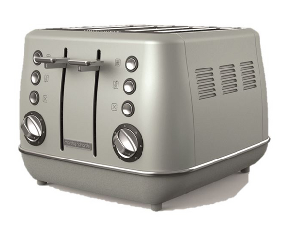 Morphy Richards Toaster 4 Slice Stainless Steel Platinum 1800W