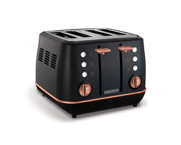 Morphy Richards Toaster 4 Slice Stainless Steel Black 1800W