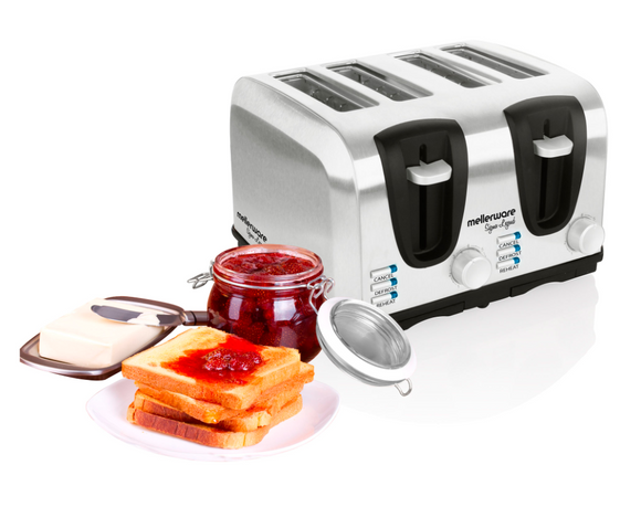 Mellerware | Sigma 4 Slice Stainless Steel Toaster