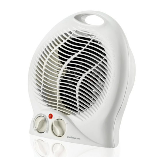 Mellerware | White Floor Fan Heater