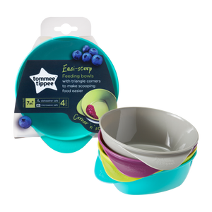 Tommee Tippee | EXPLORA EASY SCOOP BOWLS (4 Pack)