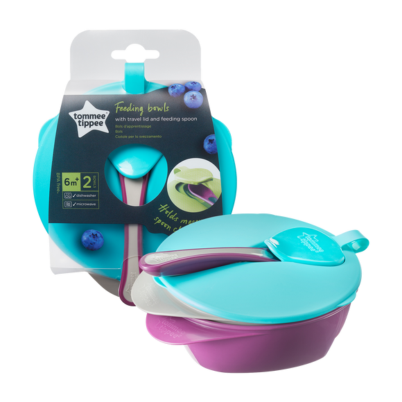 Tommee Tippee | EXPLORA FEEDING BOWL WITH LID (2 Pack)