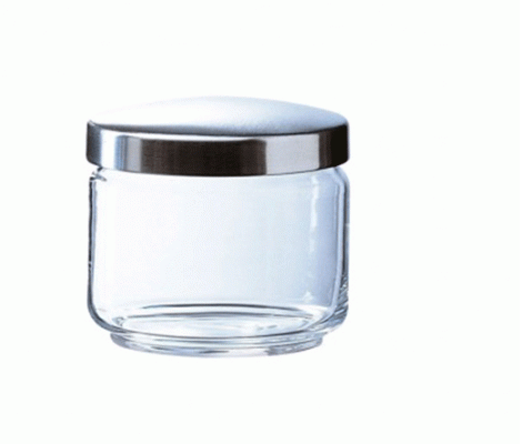 MANIA GLASS JAR & METAL LID 500ML
