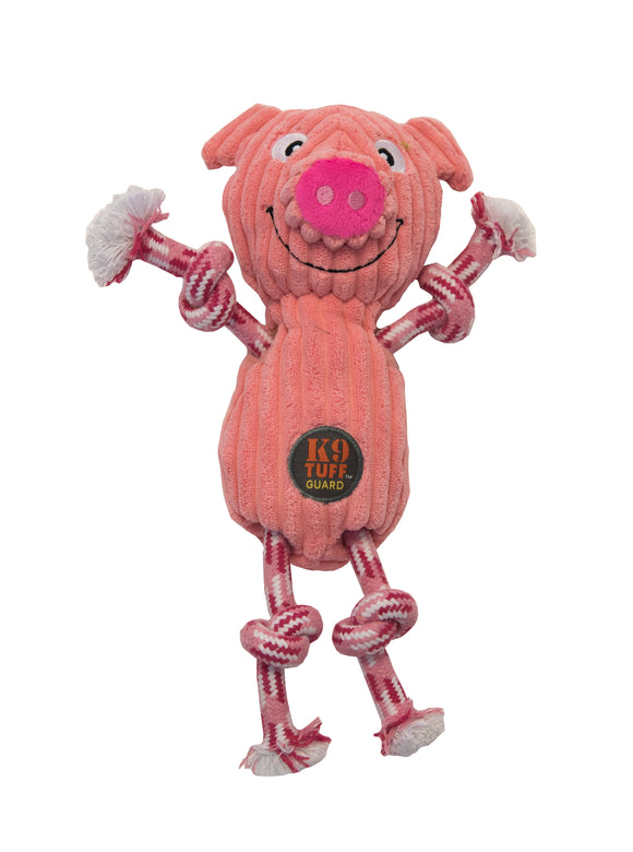 Dog Plush Toy | Charming Pets Ranch Ropers Pig