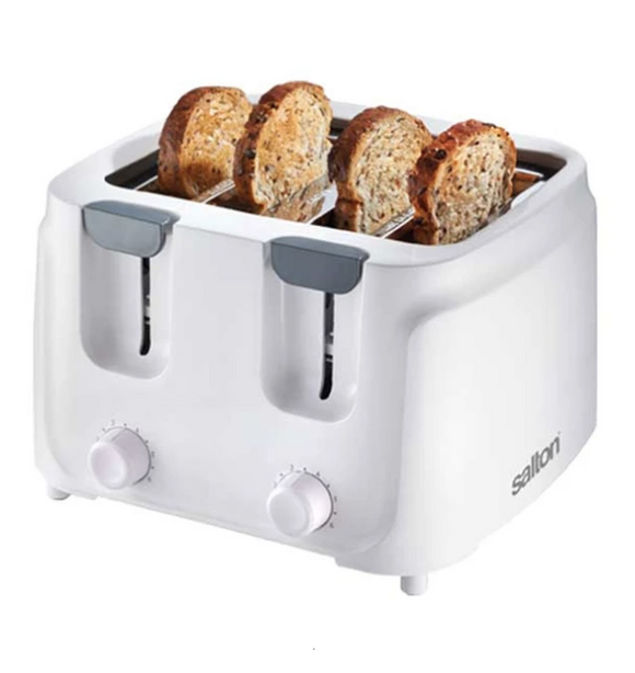 SALTON Cool Touch 4 Slice Toaster White