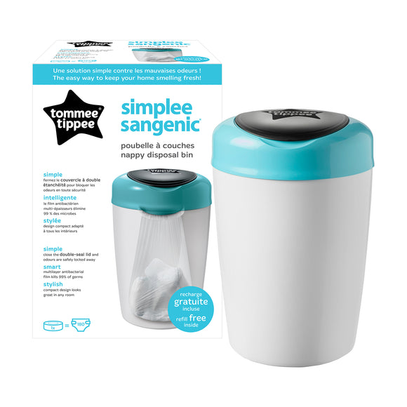 Tommee Tippee SANGENIC SIMPLEE NAPPY DISPOSAL TUB - BLUE