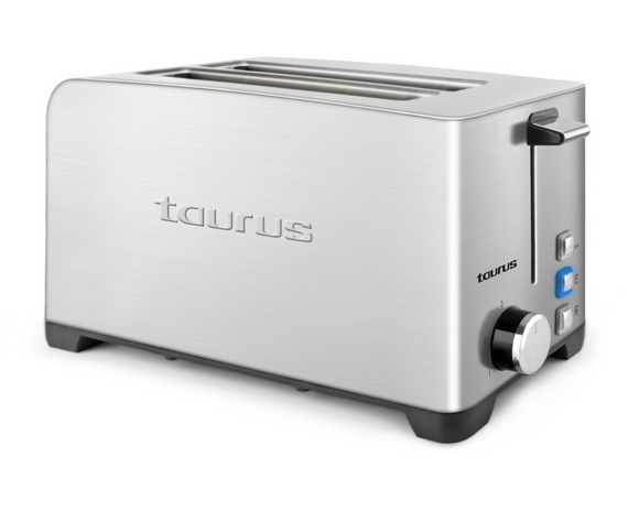 Taurus Toaster 4 Slice Stainless Steel Brushed 5 Heat Settings 1400W