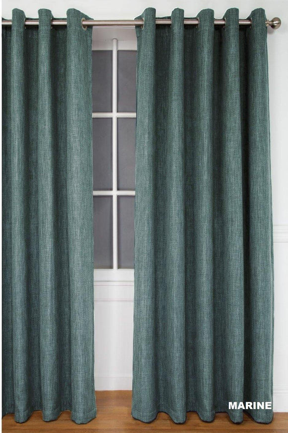 Simon Baker | Amalfi Eyelet Curtain Marine (Various Sizes)
