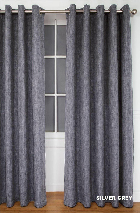 Simon Baker | Amalfi Eyelet Curtain Silver Grey (Various Sizes)