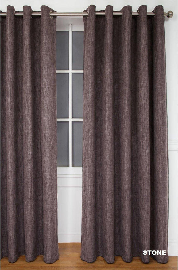 Simon Baker | Amalfi Eyelet Curtain Stone (Various Sizes)