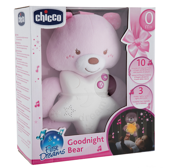 Chicco First Dream Goodnight Bear Baby Night Light – Pink