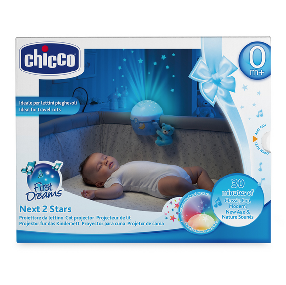 Chicco Next2 Stars Projector Baby Night Light – Blue
